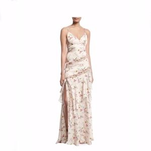 NWT • Theia Floral Ruffle Gown